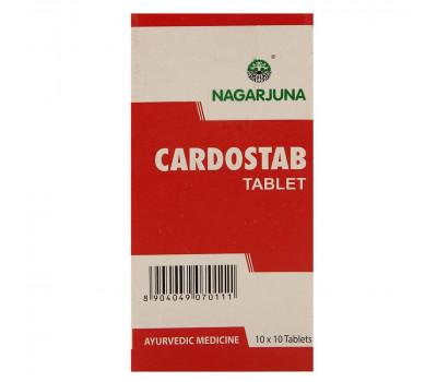 Кардостаб- при гипертонии, тревоге и тахикардии, Cardostab, Nagarjuna, 100 таб