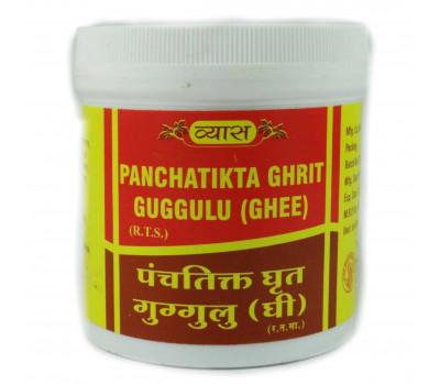 Панчатикта Гхрит (грит) - дерматологические болезни, Panchatikta Ghrit Guggulu, Vyas, 100 таб.