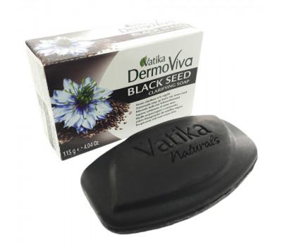 Мыло ДермоВива с черным Тмином Дабур, BLACK SEED soap Dermo Viva Vatika , 115 гр