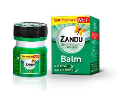 Zandu Balm, Бальзам Занду обезболивающий и разогревающий, Zandu, 9 мл,
