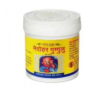Медохар Гуггул- контроль веса и холестерина, Medohar Guggulu Vyas , 100 таб.