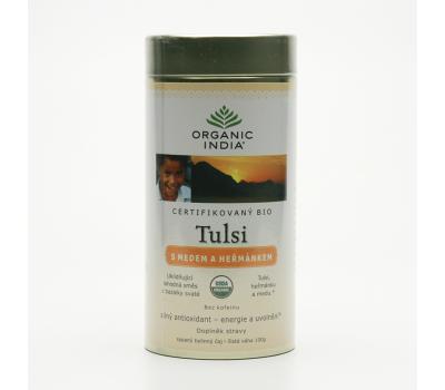 Чай базиликовый Мед и Ромашка Органик Индия, Tulsi Honey Chamomile Organic India, 100 гр