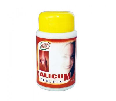 Калицум- натуральный кальций, Calicum Tablets Shri Ganga, 100 таб