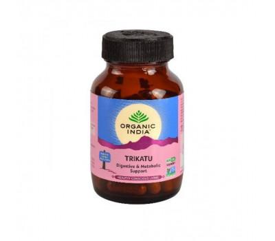 Трикату для нормализации пищеварения Органик Индия, Trikatu Organic India, 60 капс