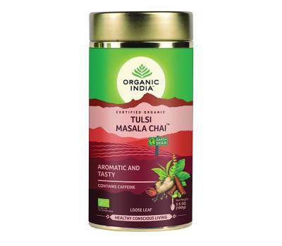 Тулси Масала Чай Органик Индия, Tulsi Masala Chai Tea Organic India, 100 гр