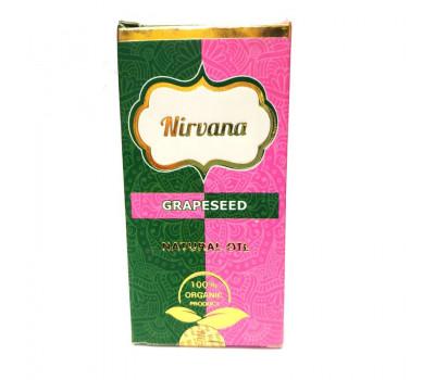 Натуральное масло Виноградной косточки для наружного применения Нирвана, Grapeseed Natural Oil Nirvana, 30 мл