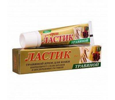 ЛАСТИК Травяной крем для кожи, корректирует следы шрамов и послеродовые растяжки, Ayurvedic Formulation, 25г