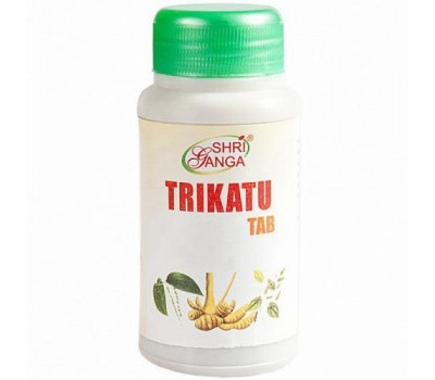 Трикату Таб- пищеварение, Trikatu Tab Shri Ganga, 120 таб