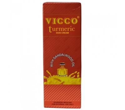 Крем с куркумой и маслом сандала Викко, Turmeric Cream With Sandalwood Oil Vicco) 15гр