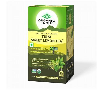 Тулси Сладкий Чай С Лимоном Органик Индия, Tulsi Sweet Lemon Tea Organic India, 25 пак