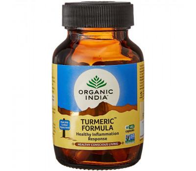 Турмерик противовоспалительное Органик Индия, Turmeric Formula Organic India, 60 капс