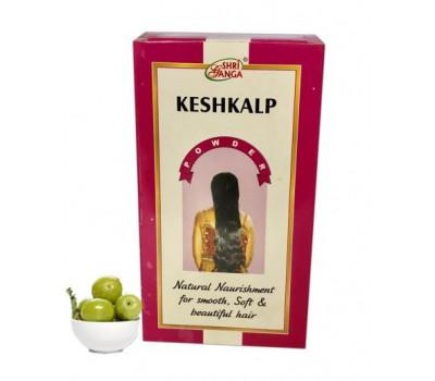 Порошок Кешкальп- для волос, Keshkalp Powder, Shri Ganga, 250 гр