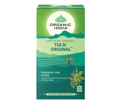 Тулси Оригинальный Органик Индия, Tulsi Original Tea Organic India, 25 пак