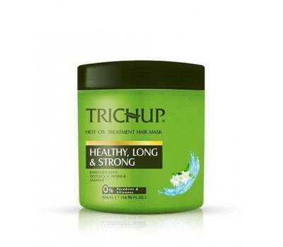 Маска для волос здоровые, Длинные и Сильные Тричуп, Healthy, Long and Strong Hair Mask Trichup, 500мл