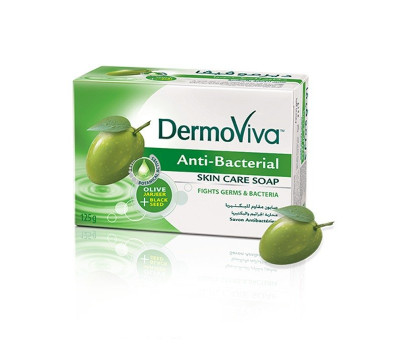 Мыло антибактериальное ДермоВива Дабур, DermoViva Anti Bacterial Skin Soap Dabur, 125 гр