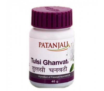Туласи гхан вати Патанджали, Tulsi ghan vati Patanjali 40 гр в таблетках