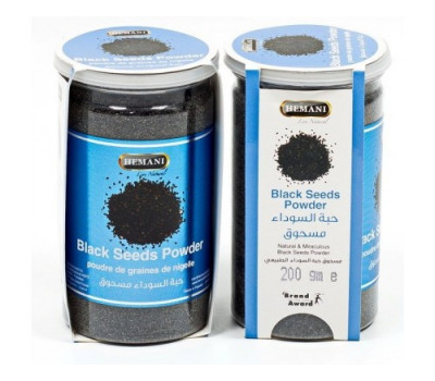 Семена черного тмина молотые Black Seed Powder Hemani 200 г.