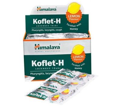 Кофлет от кашля Лимон и мед, Koflet-H Lemon, Himalaya, 6 шт