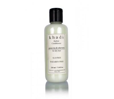 Кондиционер для волос зеленый чай и Алоэ вера Кхади SLS, Paraben Free 210 мл