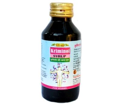 Криминол -ПРОТИВОПАРАЗИТАРНЫЙ СИРОП/ Kriminol syrup, Vyas, 100 мл