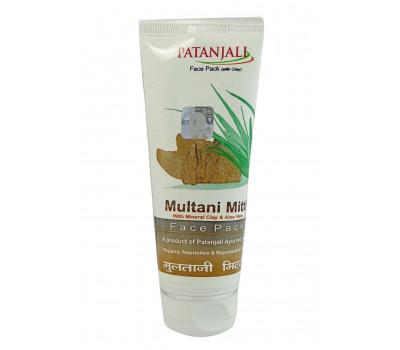 Маска для лица с лечебной глиной Мултани Митти Патанджали, Multani Mitti Face Pack Patanjali 60 гр