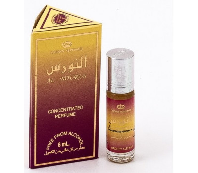 Женские арабские масляные духи AL REHAB AL NOURUS (Аль Нурус), 6 мл.