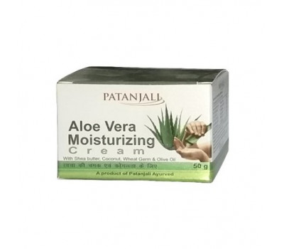 Крем увлажняющий с алое Патанджали, Patanjali Aloe Vera cream 50 гр