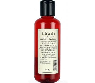 Очищающее средство для лица Сандал, Мед Кхади (Khadi Sandalwood, Honey Face Wash) 210 мл