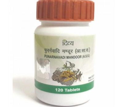Пунарнавади Мандур Punarnavadi Mandoor Patanjali - здоровые почки, 120 таб
