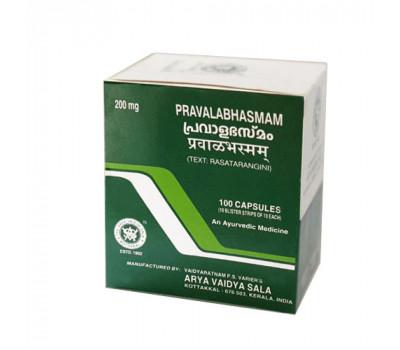Правалабхасма Pravalabhasmam Kottakkal 100 кап-источник природного кальция, балансирует Тридоши