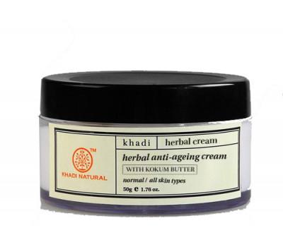 Крем для лица Антивозрастной с маслом кокума, anti ageing cream, KHADI, 50 гр