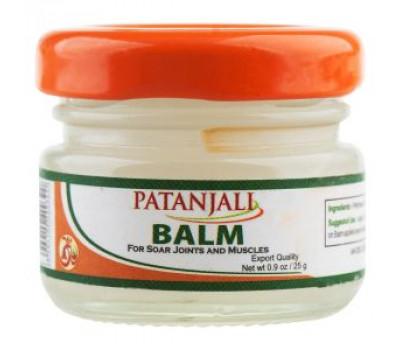 Разогревающий, обезболивающий бальзам Бальзам Патанджали (Patanjali balm) 25г
