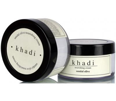 Ночной крем сандал и олива Кхади (khadi herbal nourishing Cream sandal olive) 50 гр