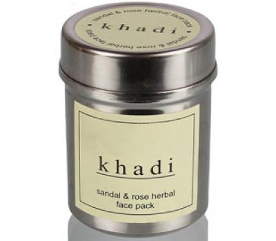 Натуральная маска для лица Cандал и Роза Кхади Khadi herbal face pack Sandal and rose 50 гр