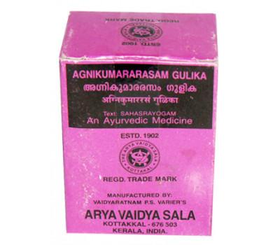 Агникумарарасам гулика Agnikumararasam Gulika 100 Tablets (Arya Vaidya Sala Kottakal)