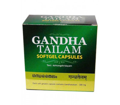 Гандха тайлам капсулы Gandha Tailam Softgel Capsules Kottakkal 100 кап.