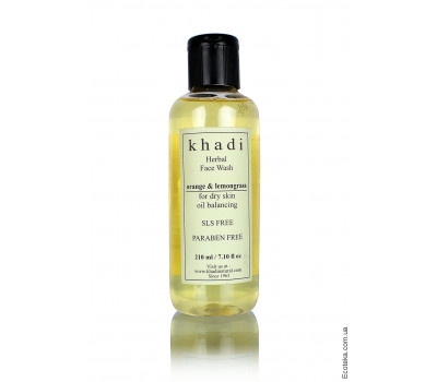 Кондиционер Кхади Апельсин и Лемонграсс Без СЛС и парабентов (Khadi Orange & Lemongrass Conditioner) 210 мл