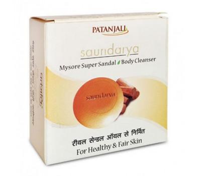 Мыло Майсурский Супер Сандал Патанджали Patanjali Saundarya Mysore Super Sandal Body Cleanser 75 гр