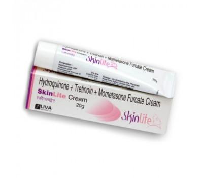Крем Отбеливающий СкинЛайт  гидрохинон 2% и третиноин 0.025%, Hydroquinone + Tretinoin + Mometasone Furoate Cream SkinLite, 20гр