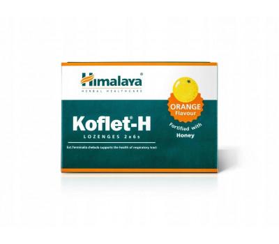 Кофлет от кашля Апельсин и мед, Koflet-H Orange and Honey, Himalaya, 6 шт
