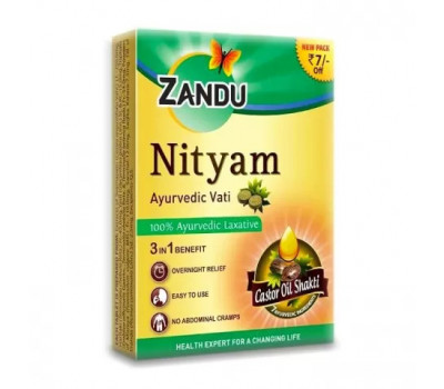 Мягкое слабительное Нитьям Занду Nityam Tablets Zandu, 10 таб.