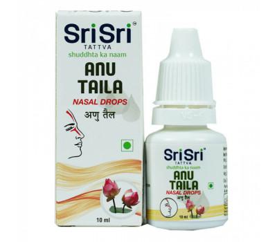 Капли Ану Тайла Шри Шри / Any Taila Nasal Drop Sri Sri Tattva, 10 ml